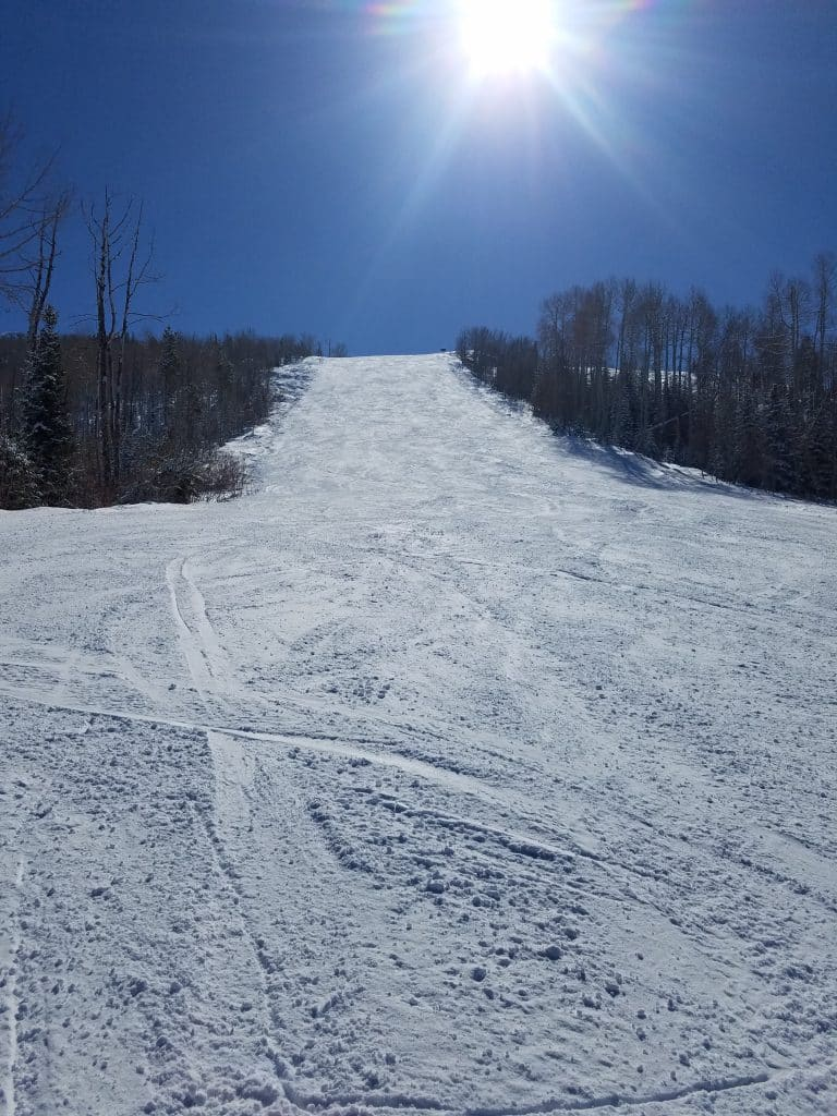 Another gorgeous day on Ted's Ridge at Steamboat Resort.