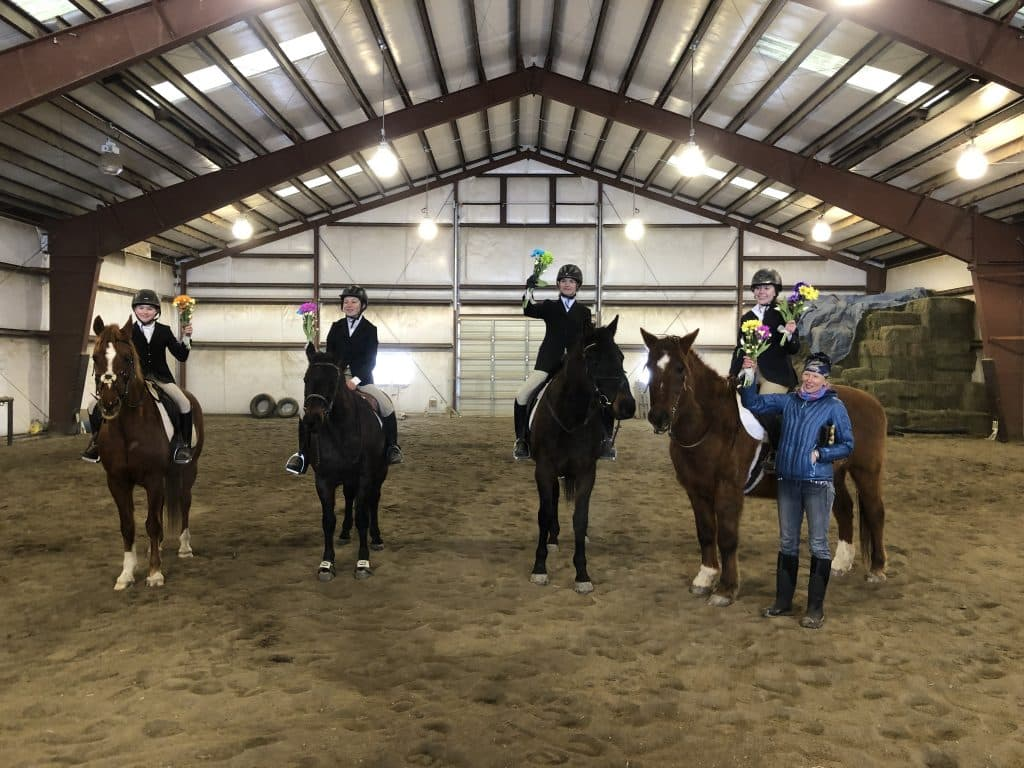 A taste of spring in the arena for the Iron Horse Drill Team