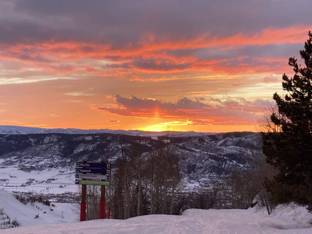 Sunset from the mountain.