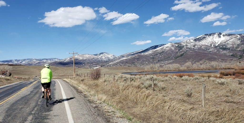 Beautiful day for a ride in Routt County.