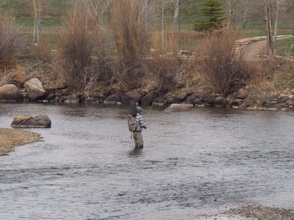 Fishing in the Yampa River.
