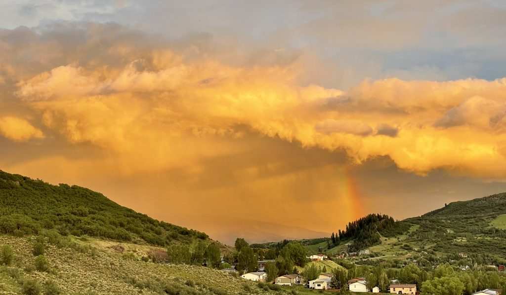 Rainbow over Howelson hill