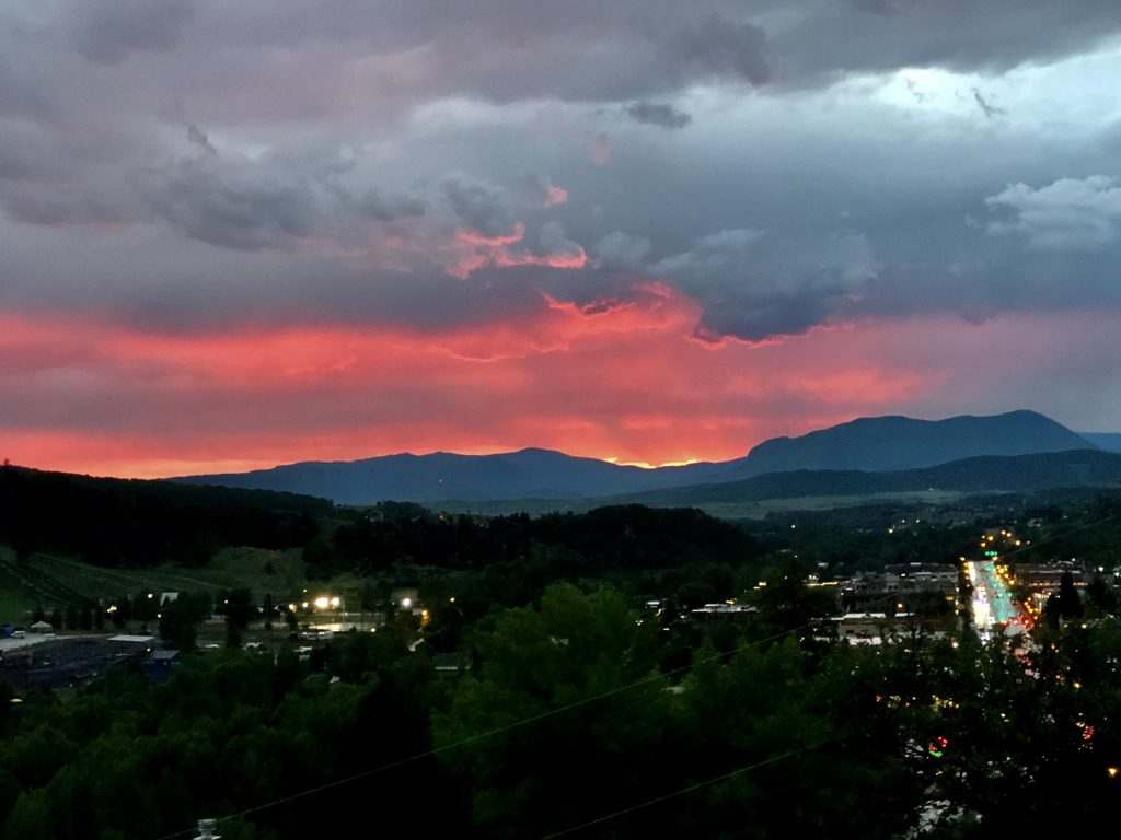Here is a beautiful picture of the sunset tonight, from Steamboat Radio GM Brian Harvey.