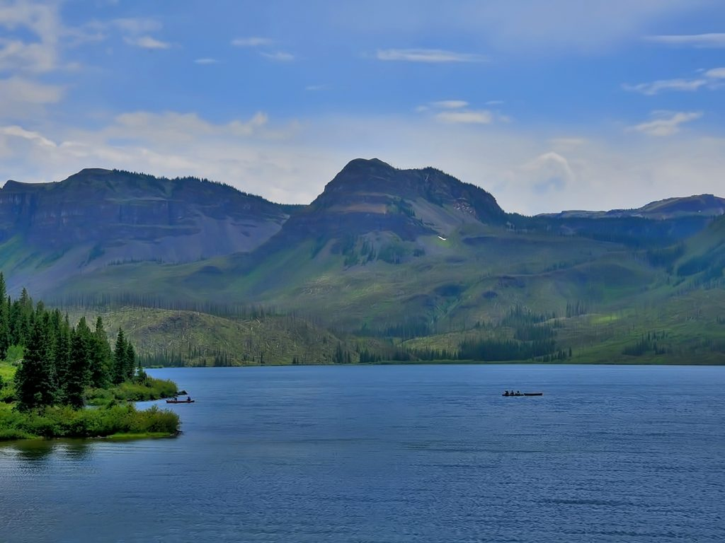 Trappers Lake in Flat Tops Wilderness Area