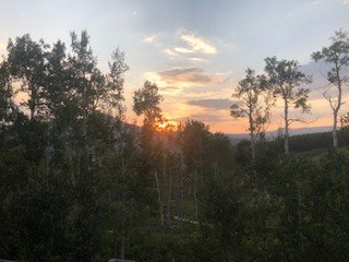 We have a home at Rabbit Ears Village & the sunsets have been quite beautiful this summer even if the smoke from fires had impacted the sky.  Thought you may enjoy this sunset.
