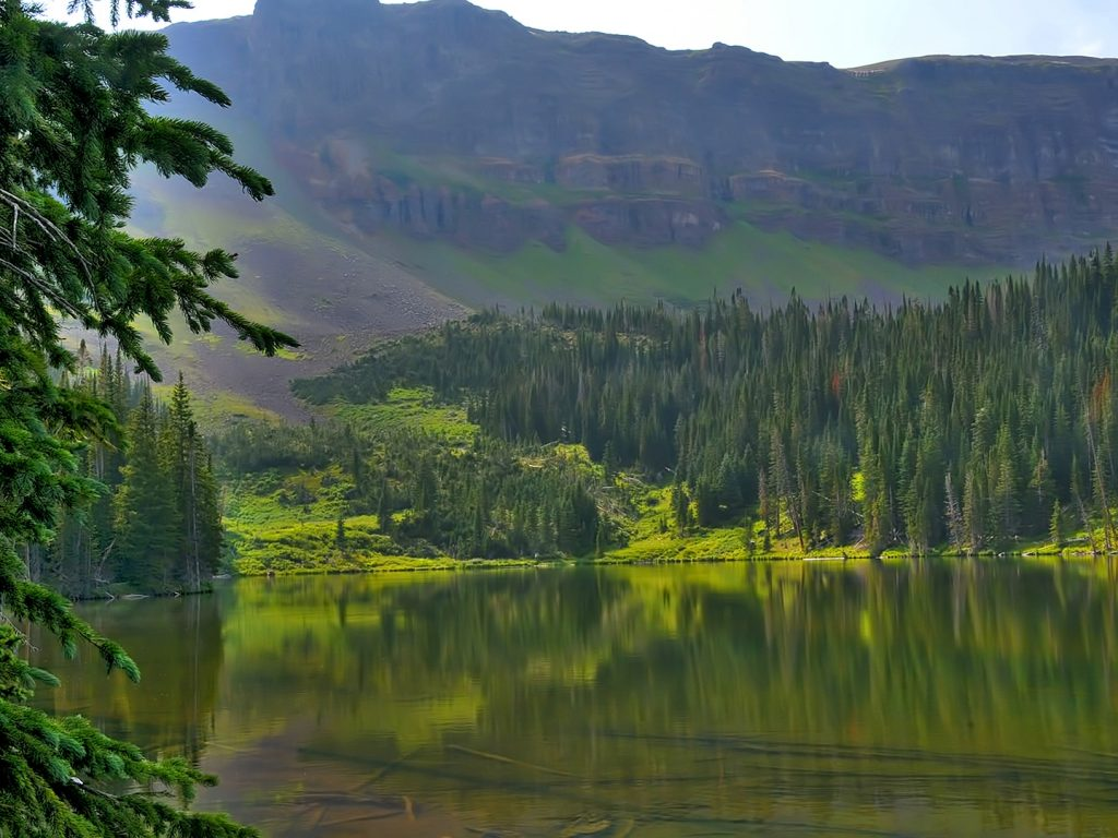 Mandall Lake in the Flat Tops Wilderness Area