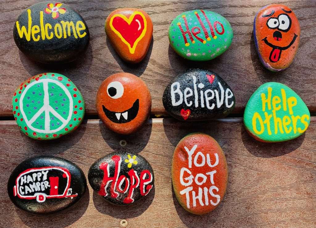 Hand Painted Rocks. FOR: The Kindness Rocks Project.