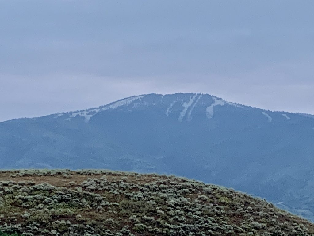 First snow on Steamboat Resort