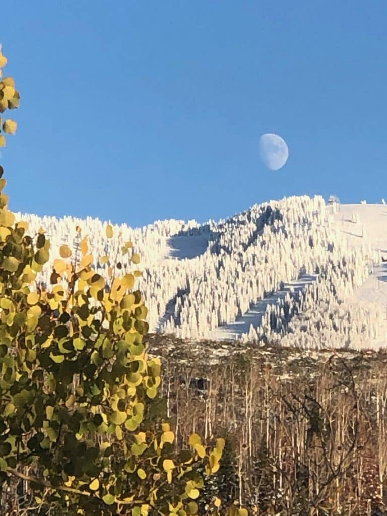 Steamboat Resort and the moon